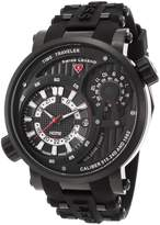 Swiss Legend Men's 'Time Traveler' Quartz Stainless Steel and Silicone Automatic Watch, (Model: 13841SM-BB-01)
