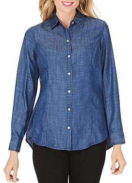 Foxcroft Juliet Brushed Button-Down Shirt