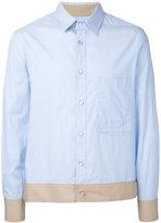 General Idea contrasting hem shirt