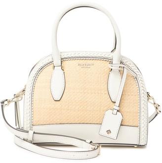 Kate Spade medium straw leather dome satchel