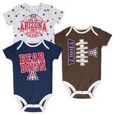 NCAA Arizona Wildcats Newborn 3-Pack Bodysuit Set