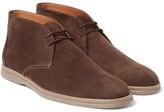 Loro Piana Soft Walk Nubuck Chukka Boots - Chocolate