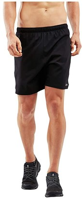 2XU XVENT 7 Shorts w/ Brief (Black/Silver Reflective) Men's Shorts