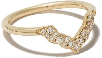 Astley Clarke 14kt yellow gold large Interstellar Axel diamond ring