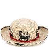Ibo Maraca - Lamina Aequatoria hat - women - Leather/Straw - L