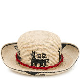 Ibo Maraca - Lamina Aequatoria hat - women - Leather/Straw - M