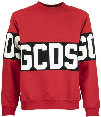 GCDS Bad Logo Red Crewneck