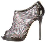 Jimmy Choo Patent Leather Peep-Toe Booties