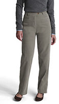 Classic Women's Petite Pre-hemmed Traditional Fit 21-wale Corduroy 7 Day Trousers-Pink Plaid