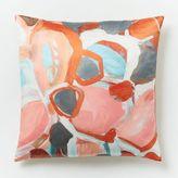 west elm Silk Impasto Floral Pillow Cover - Light Rose Pastel