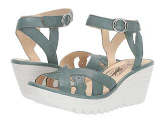 Fly London YRAT021FLY (Jade Green Janeda Leather) Women's Sandals