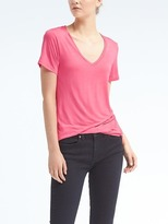 Banana Republic Short-Sleeve Modal Vee Tee