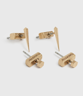 AllSaints Carp Gold-Tone Earring Set