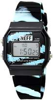 Neff Men's NF0204-pink Old School Digital Design Soft PU Strap Watch