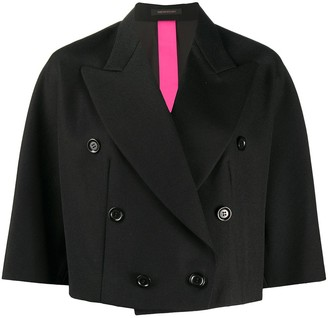 Y's Double-Breasted Cropped Jacket