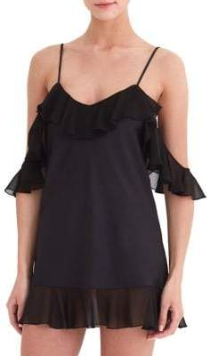 Rya Collection Ruffled Cold-Shoulder Chemise