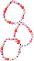 Osh Kosh 3-Pack Beaded Slogan Bracelets