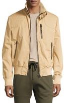 Michael Bastian Leather Lined Trucker Coat In Taupe
