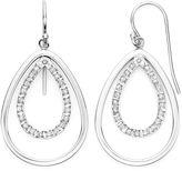 JCPenney FINE JEWELRY Diamond Fascination Sterling Silver Double Teardrop Earrings