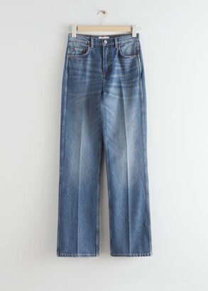 And other stories High Waist Flared Leg Jeans