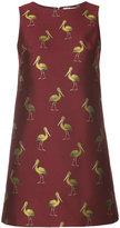 Alice + Olivia Alice+Olivia - bird print mini dress - women - Cotton/Polyester/Spandex/Elastane - 0