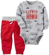 "Carter's Baby Boy Little Hero"" Fire Truck Bodysuit & Pants Set"