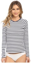 Tommy Bahama Mare Stripe Long Sleeve Rashguard Cover-Up