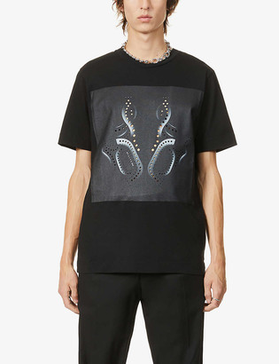 Alyx Leone perforated cotton-jersey T-shirt