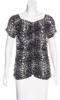 St. John Printed Short Sleeve Top