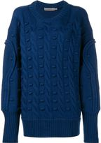 Preen Line oversized cable knit jumper - women - Wool - L