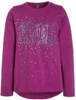 Benetton Long sleeved top berry