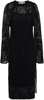 McQ Pointelle-knit Linen Dress