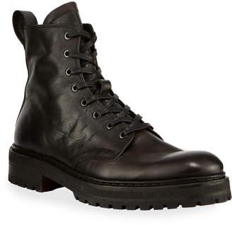 John Varvatos Men's Union Leather Combat Boots