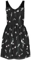 Dex Feather Print Dress