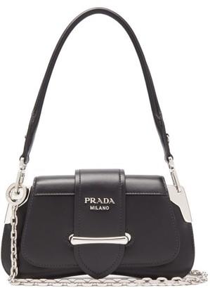 Prada Sidonie Mini Leather Shoulder Bag - Womens - Black