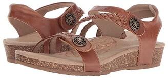 Aetrex Jillian Quarter Strap (Black) Women's Sandals