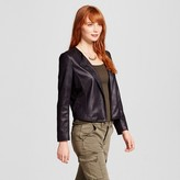 XOXO Women's Glazed Ponte Mixed Media Jacket Juniors')
