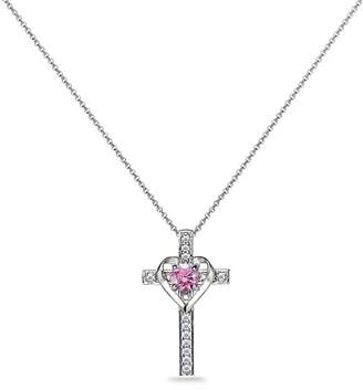 Silver Cross Designs By Fmc Designs by FMC Women's Necklaces silver - Rose & Sterling Heart Necklace With Swarovski Crystals