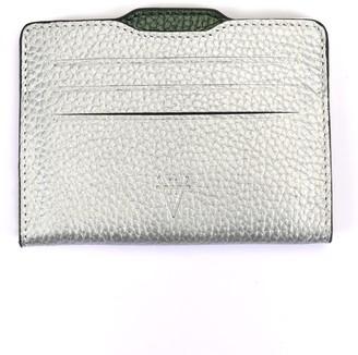 Hiva Atelier Double Card Holder Silver & Metallic Green