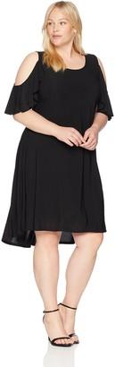 Karen Kane Women's Plus Size Cold Shoulder HI-LO Dress