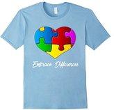 Embrace Differences Autism Awareness Shirts Women Men