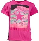 Converse Junior Girls In The Clouds T-Shirt Magenta
