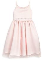 Us Angels Girls' Chiffon Overlay Satin Flower Girl Dress - Little Kid