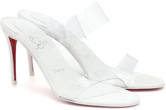 Christian Louboutin Just Nothing 85 PVC and leather sandals