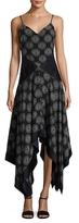 Diane von Furstenberg Silk Handkerchief-Hem Dress