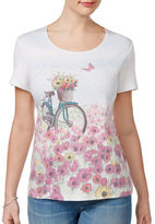 Karen Scott Petite Bicycle Graphic T-Shirt