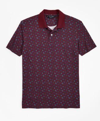 Brooks Brothers Slim Fit Printed Paisley Polo Shirt
