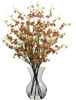 Nearly Natural Cherry Blossoms with Vase Arrangement in Pink
