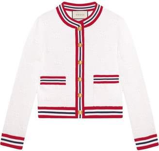 Gucci GG wool silk cardigan