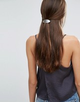 Orelia Brushed Oval Hair Clip